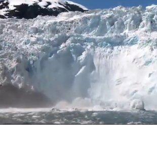 2. Обрушение ледника и зрители.
